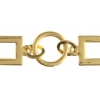 Chain Rectangle/round 30x11mm Gold